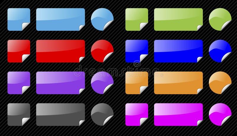 elementy ustawiają błyszczącą wektorową sieć ilustracja wektor