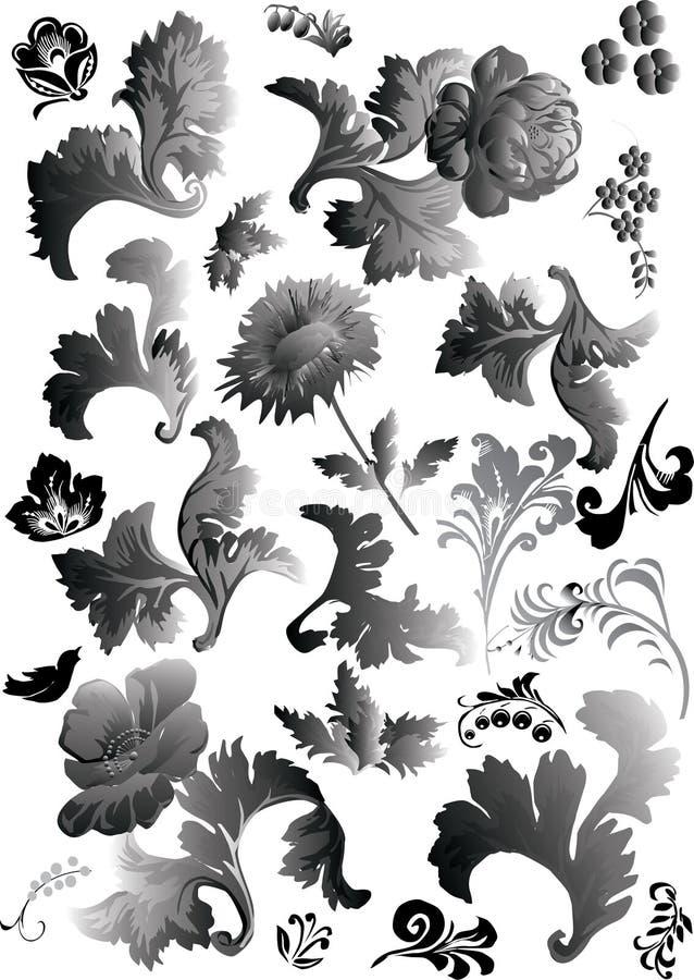 elementy zielarscy ilustracja wektor