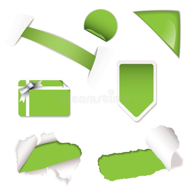 elementy zielenieją sprzedaż sklep ilustracji