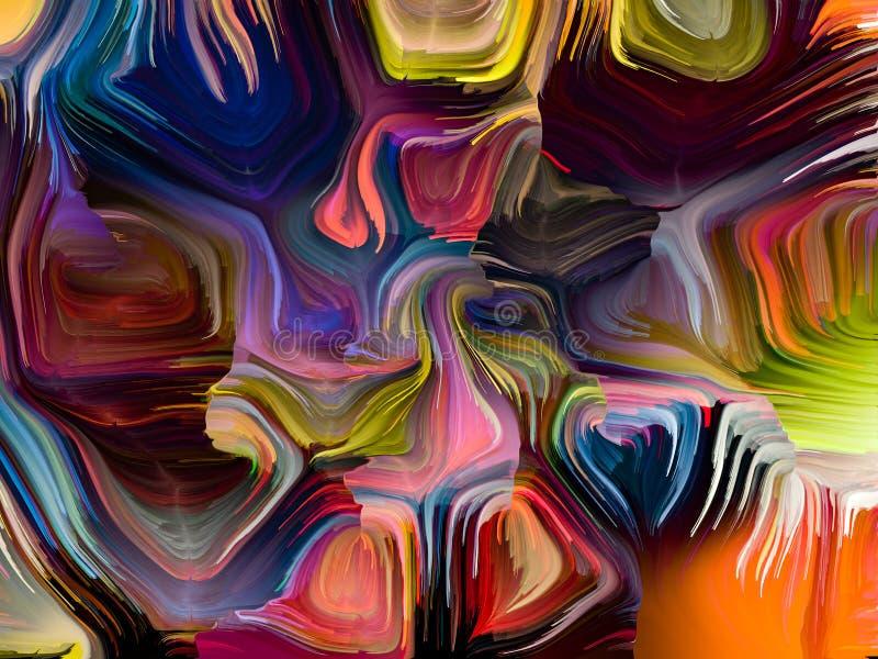 Elementy Zrastający się kolory ilustracja wektor