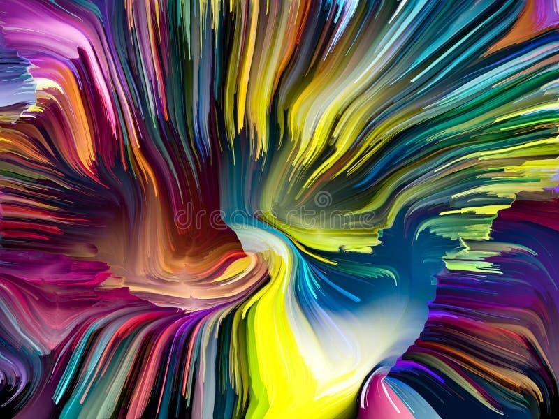 Elementy Zrastający się kolory ilustracji