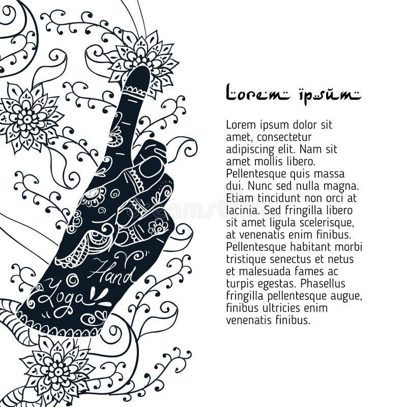 Elementyoga Bronchitis mudra Hände vektor abbildung