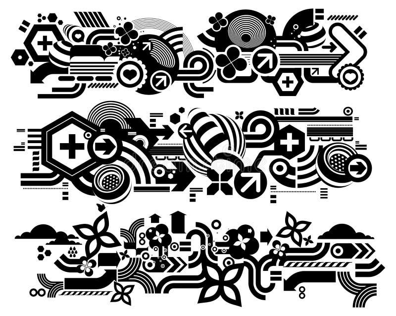 Elemetnts 413 de Techno stock de ilustración