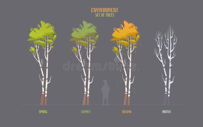 Elemets вектора окружающей среды для игры иллюстрация штока