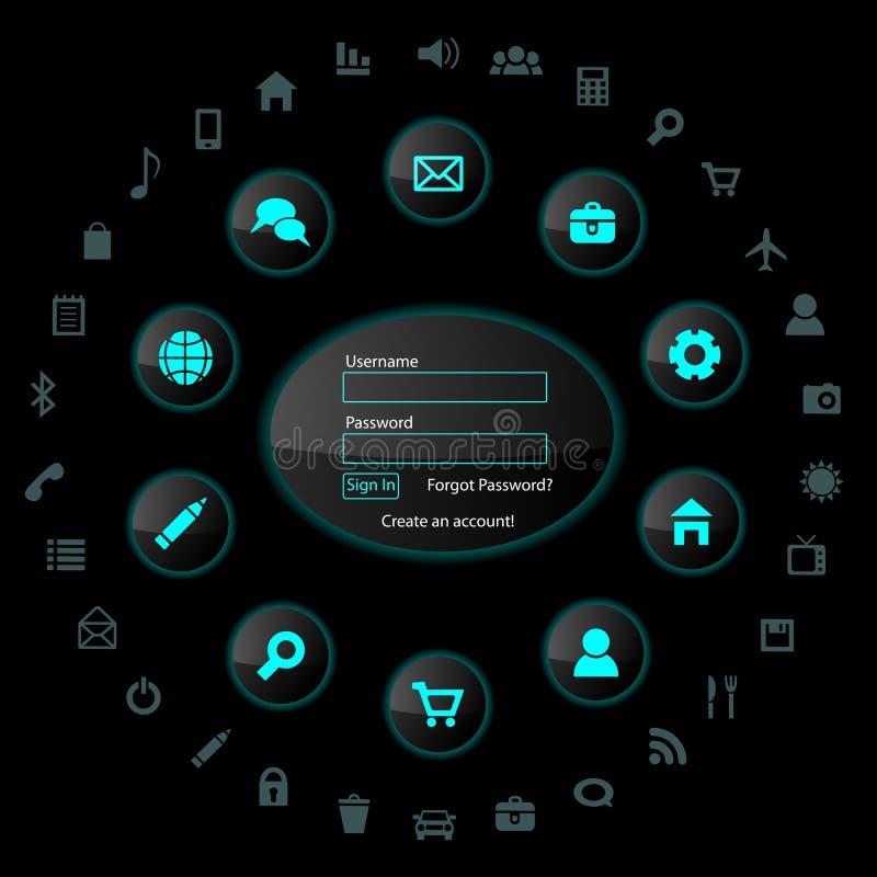 Elemets do design web ilustração do vetor