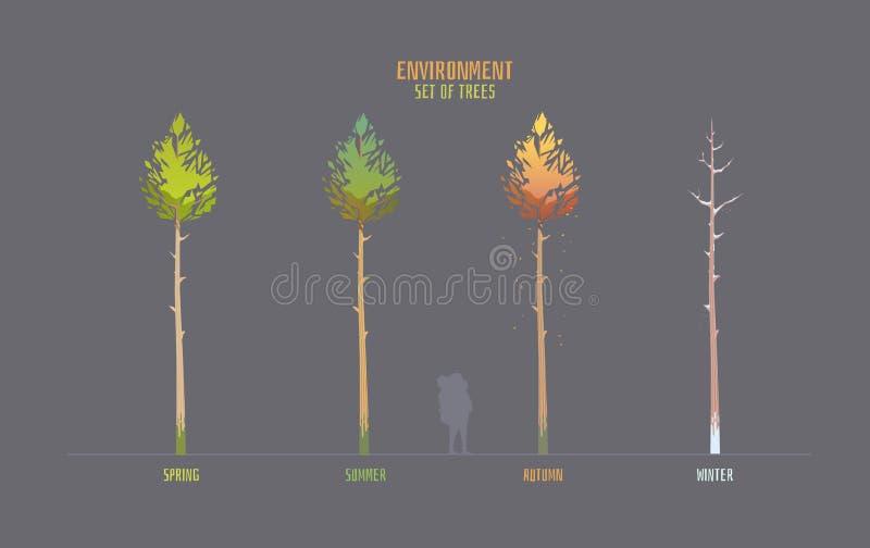 Elemets do vetor do ambiente para o jogo ilustração royalty free
