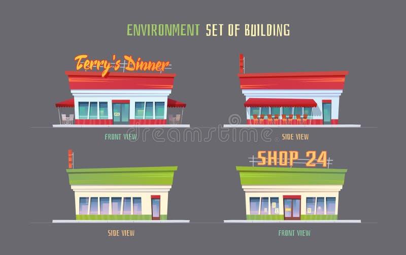 Elemets do vetor do ambiente para o jogo ilustração do vetor