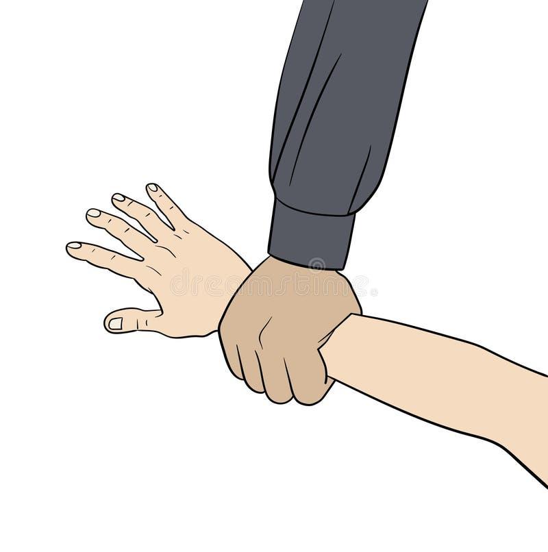 Elemment da mão da garra ilustração do vetor