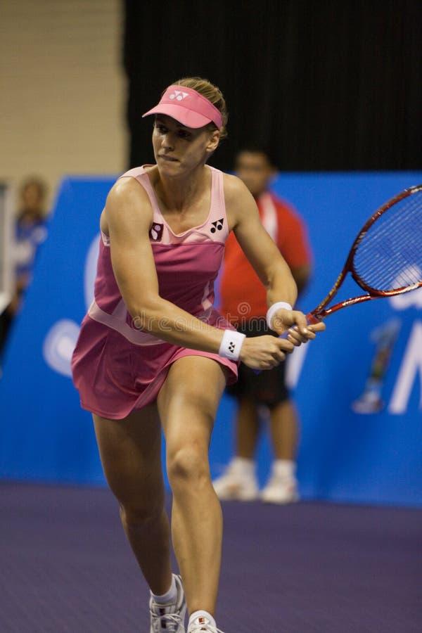 Elena Dementieva na prova final dos campeões Tenn fotografia de stock