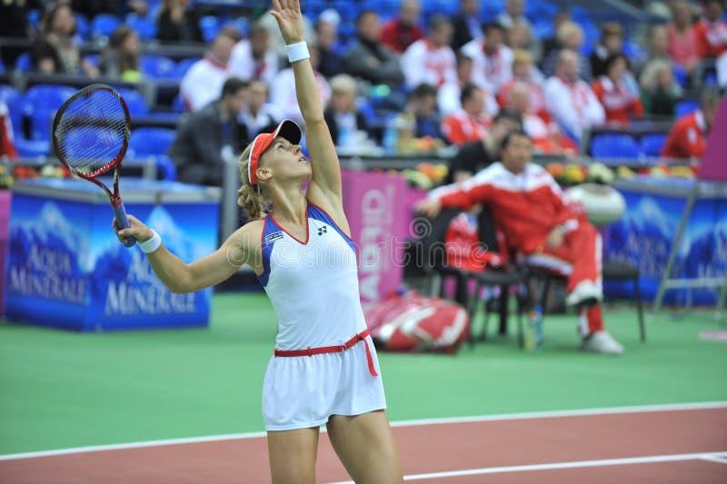 Elena Dementieva-Rússia imagem de stock