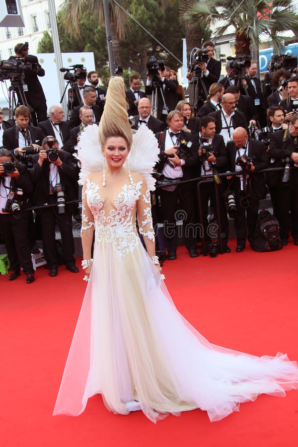 Elena Lenina. Attends the 'Mad Max : Fury Road' Premiere during the 68th annual Cannes Film Festival on May 14, 2015 in Cannes, France royalty free stock photo