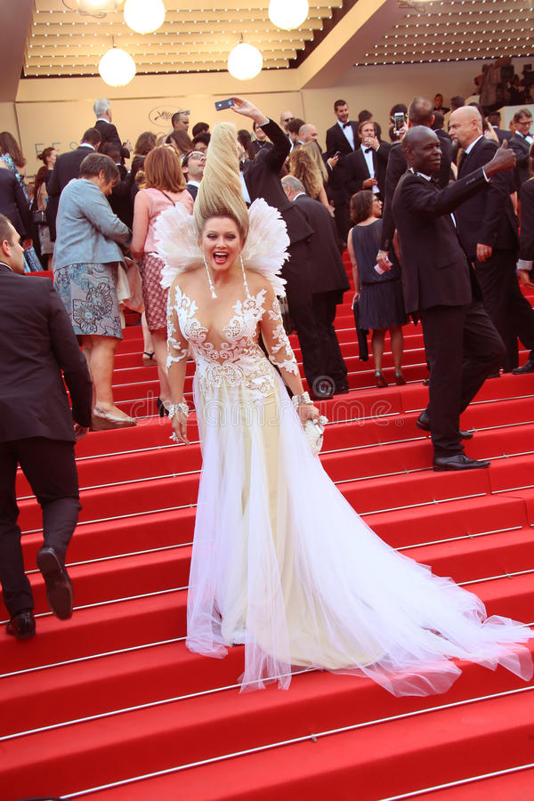 Elena Lenina. Attends the 'Mad Max : Fury Road' Premiere during the 68th annual Cannes Film Festival on May 14, 2015 in Cannes, France royalty free stock images