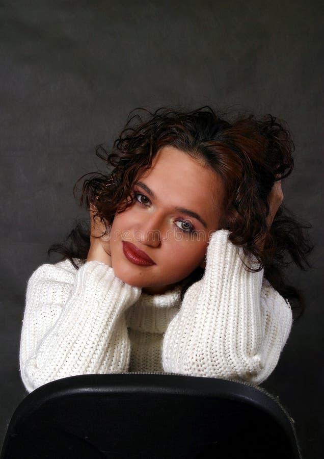 Elena's portrait stock image