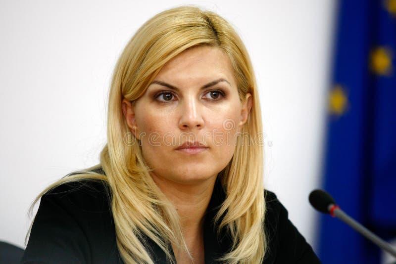 Elena Udrea foto de stock
