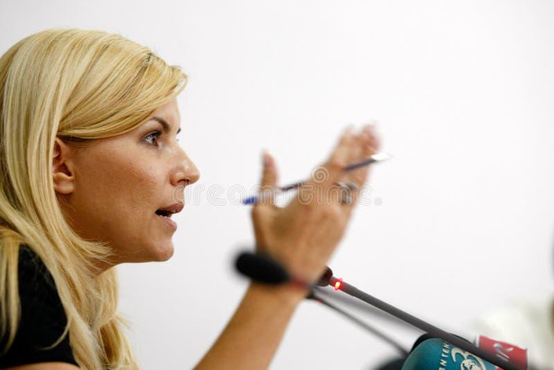 Elena Udrea imagem de stock royalty free