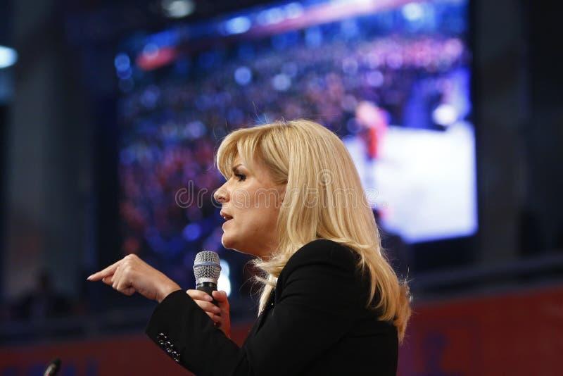 Elena Udrea Holding um discurso fotos de stock royalty free