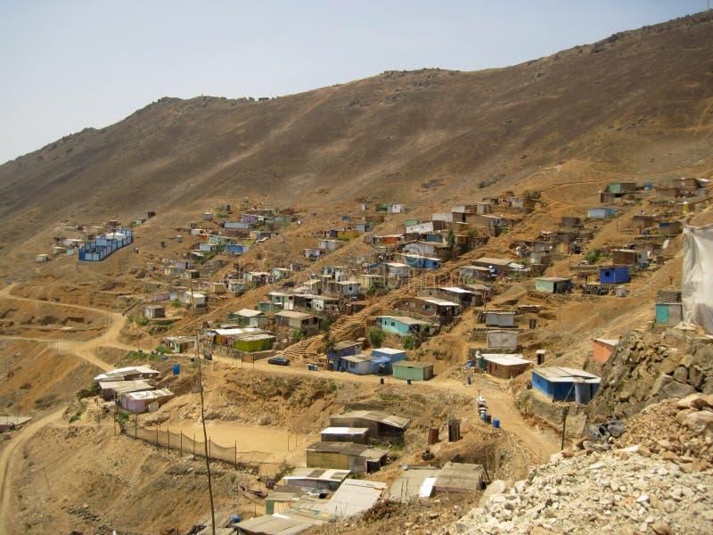 Elendsviertel, Südamerika, Lima lizenzfreie stockfotografie