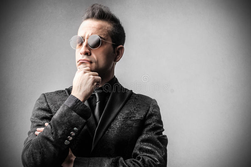 Download Elengat Rich Businessman Thinking Stock Photo - Image of business, sunglasses: 39502582