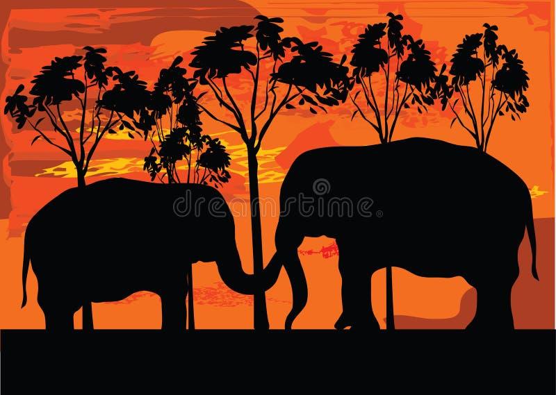 elephans 2 иллюстрация вектора