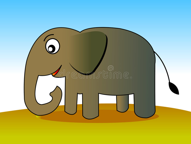 Download Elephant  01 stock illustration. Illustration of cartoon - 455852