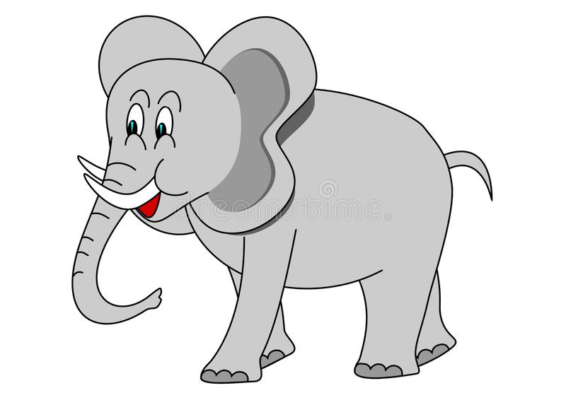 Download Elephant stock vector. Image of color, african, drawing - 17569218
