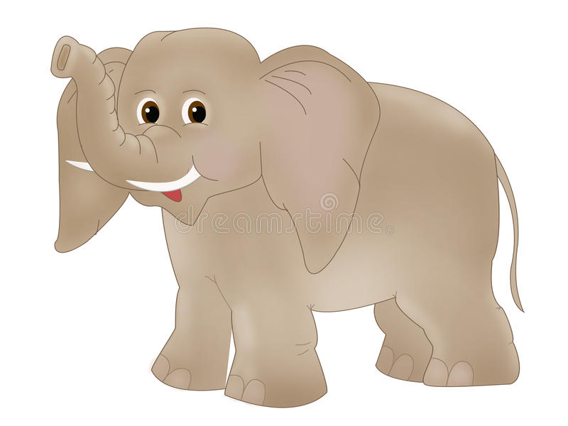 Download Elephant stock illustration. Image of curly, animal, flyer - 17788679
