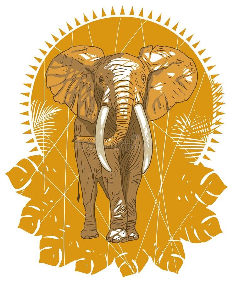 Download Elephant stock vector. Illustration of sunset, wildlife - 18514932