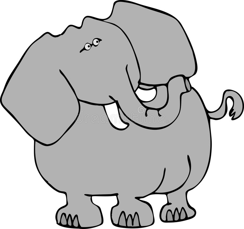 Download Elephant 3 stock illustration. Illustration of trunk, tail - 173333