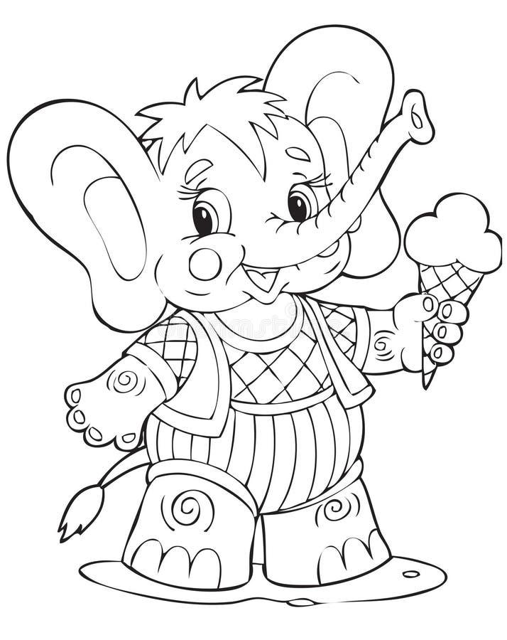 Elephant. Illustration of the amusing elephant stock illustration