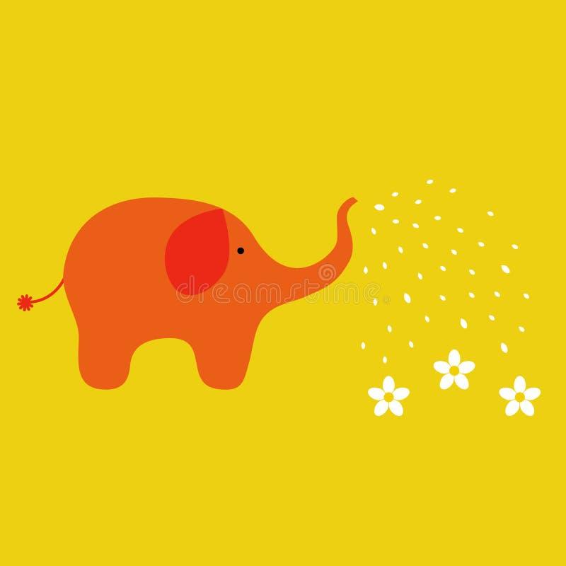 Download Elephant stock vector. Image of garden, clean, orange - 8428250