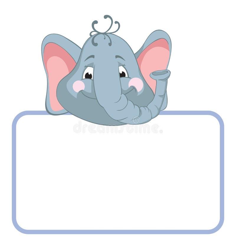 Elephant. Baby animal banner