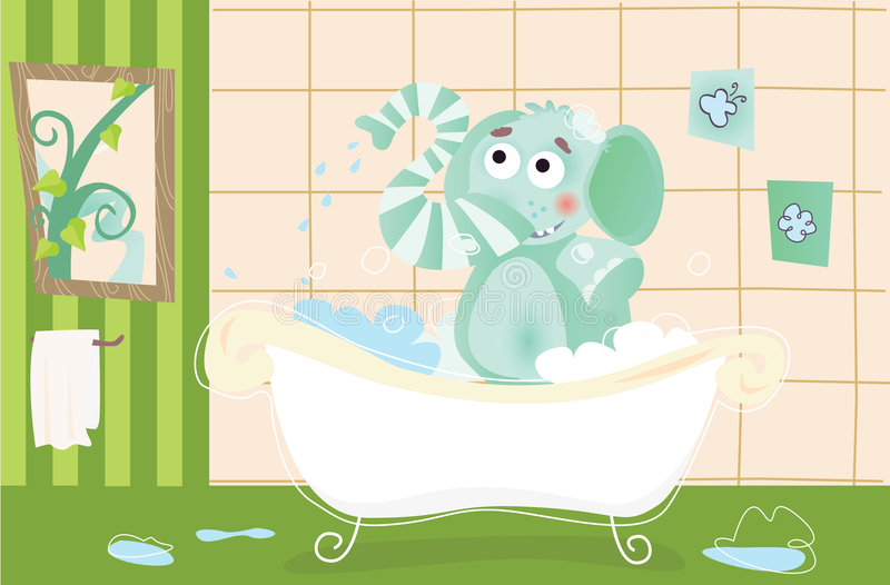 Download Elephant Baby Is Bathing Royalty Free Stock Photo - Image: 8646025