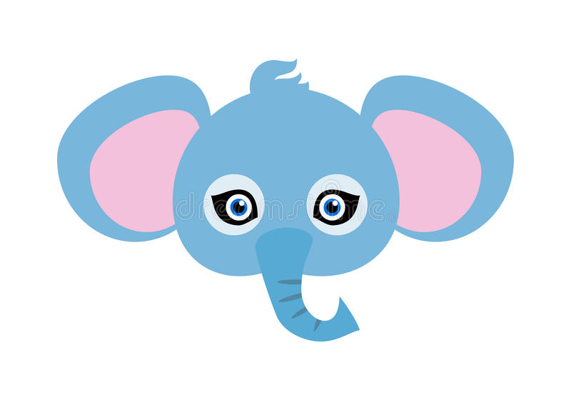 Elephant Carnival Mask. Big Animal with Large Ears vector illustration