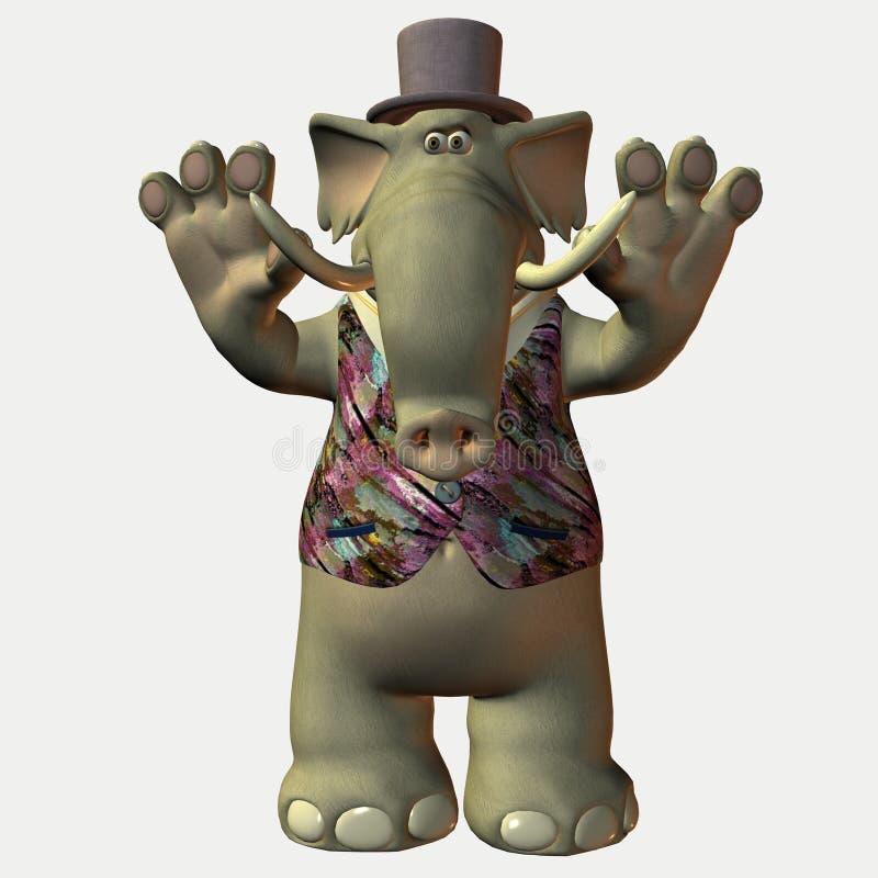 Elephant cartoon vector illustration
