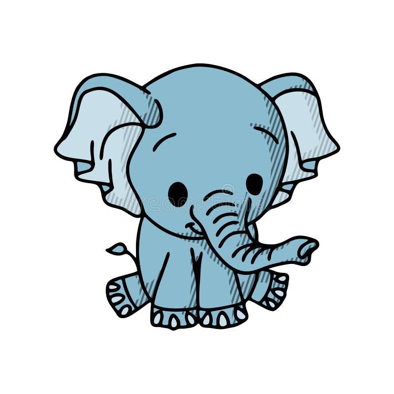 Elephant, cartoon style vector illustration isolated on white background royalty free illustration