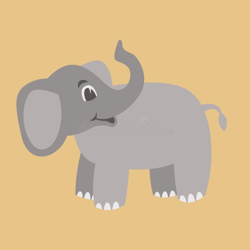 Elephant cartoon vector illustration flat style profile stock illustration