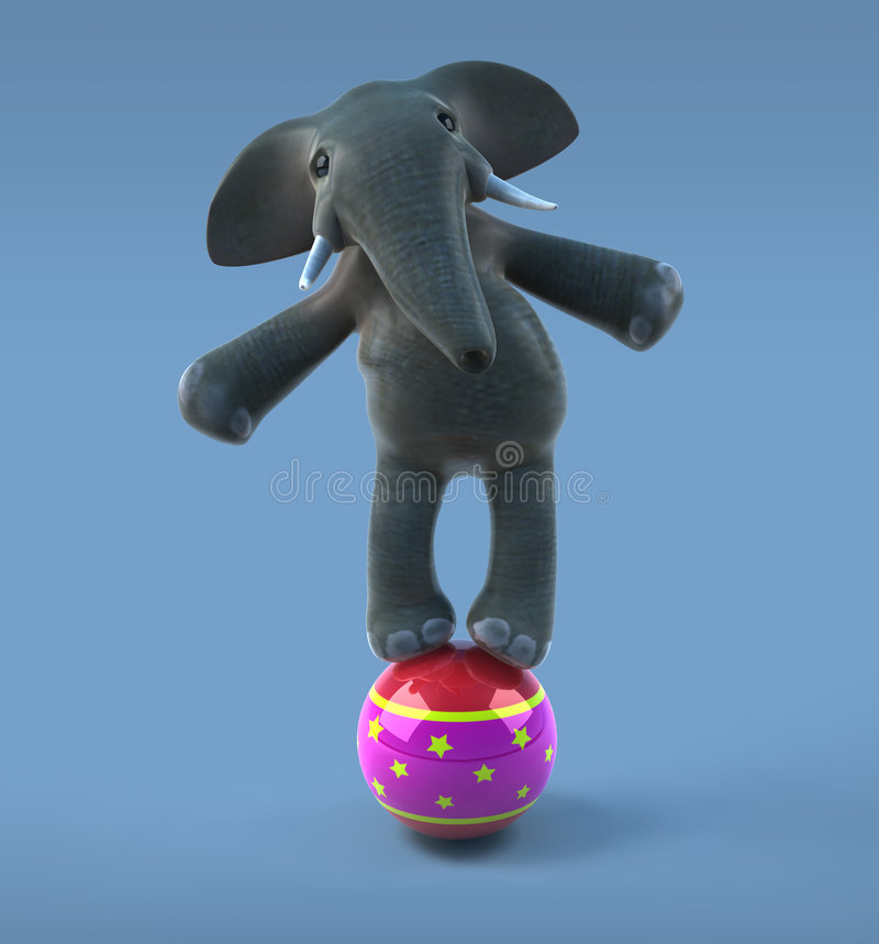 Download Elephant In A Circus Stock Image - Image: 2918381