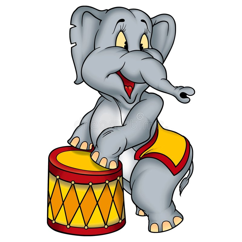 Free Elephant Circus Performer Royalty Free Stock Photography - 1971277