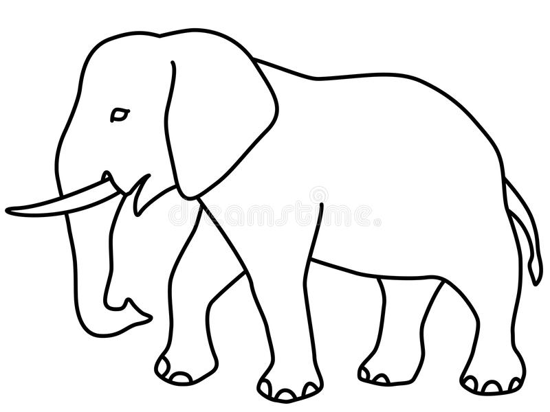 elephant contour icon stock vector illustration of ivory free elephant clipart images free elephant clip art black and white