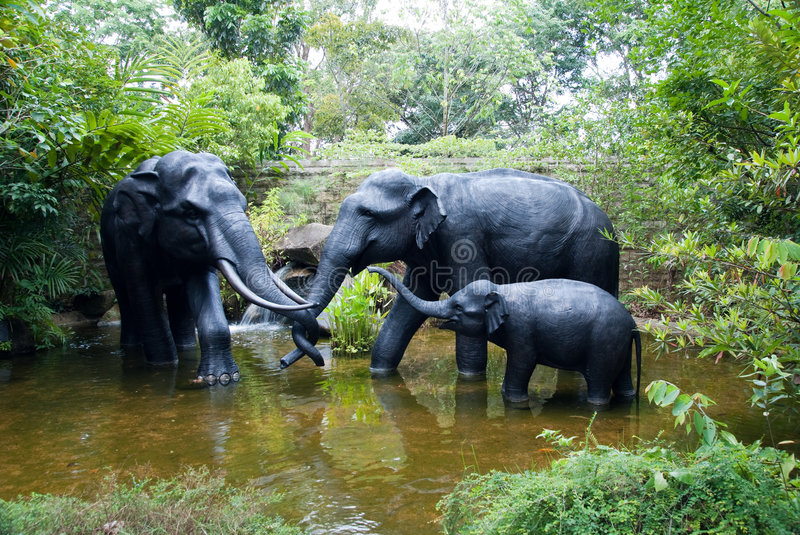 Download Elephant Family stock image. Image of huge, mother, body - 8958917