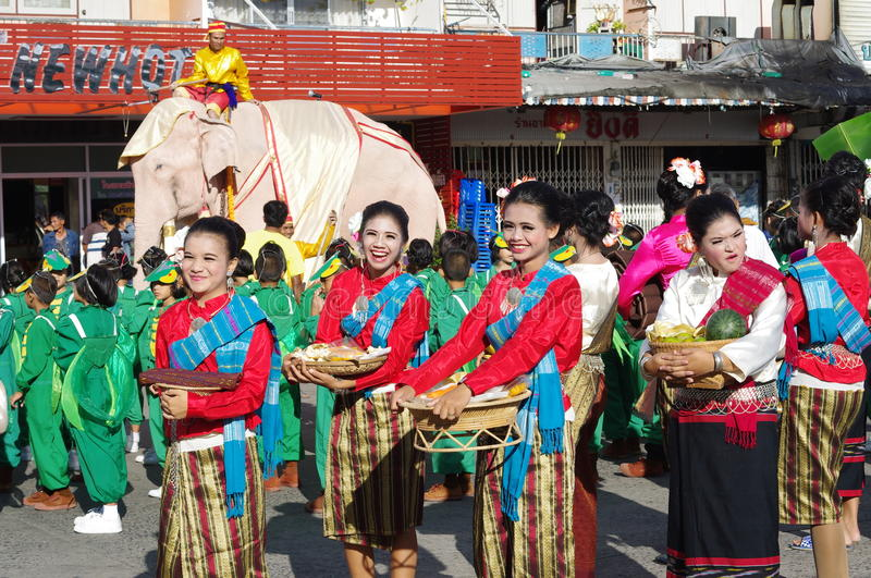 Elephant festival in Surin royalty free stock image