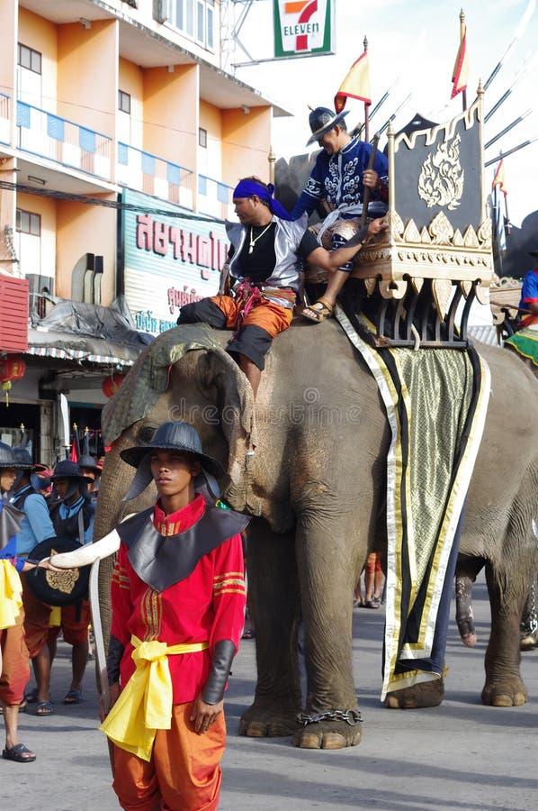Elephant festival in Surin stock photos