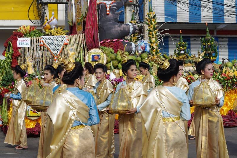 Elephant festival in Surin royalty free stock photos