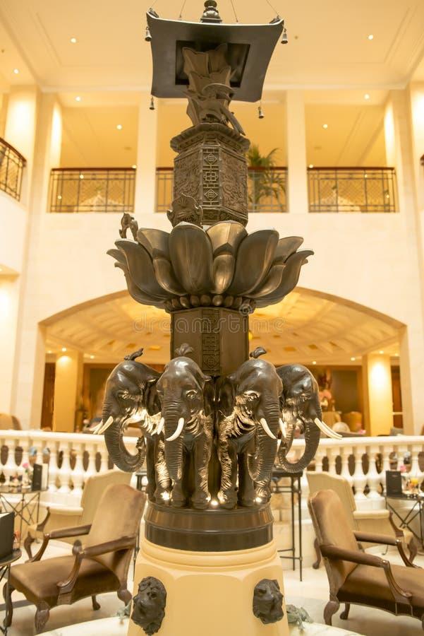 Elephant-fountain Hotel Adlon, Berlin stock images