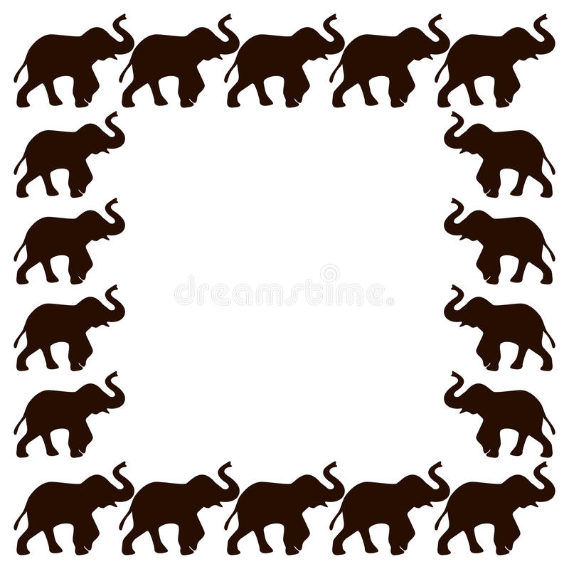 Elephant frame stock vector. Illustration of nature, frame - 60449100