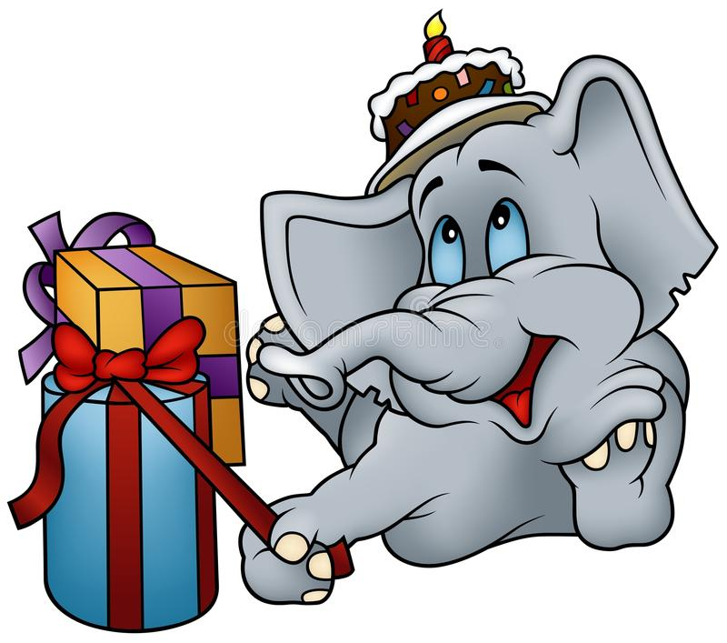 Download Elephant and Gifts stock vector. Image of gift, birthday - 12516267