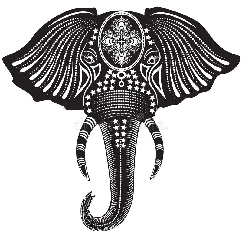 Download Elephant Head stock vector. Illustration of powerful - 25159957