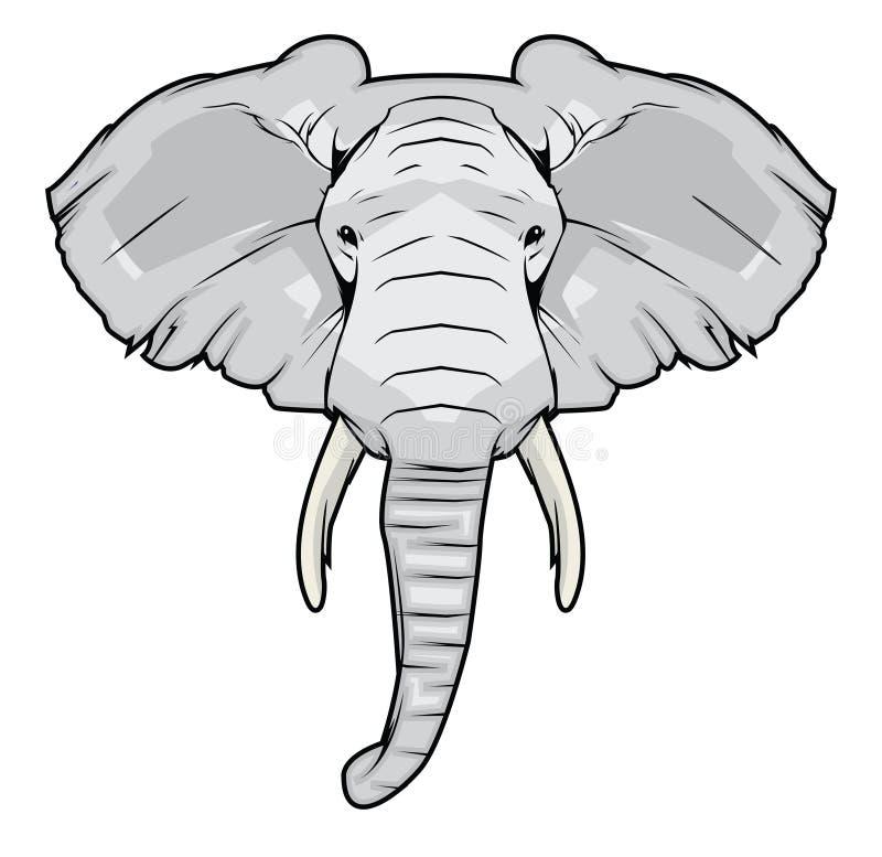 Line Drawing Elephant Head : Elephant head stock vector illustration of symbol