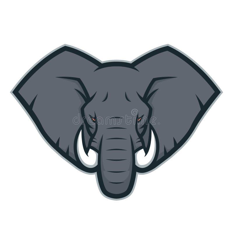 Free Elephant Head Mascot Logo Stock Image - 102055451