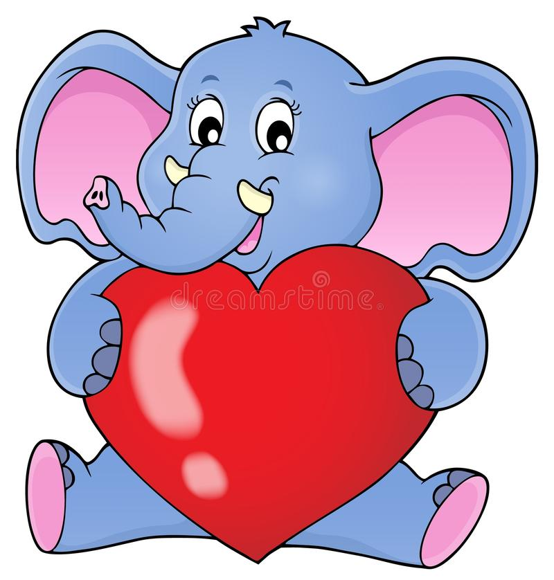 Free Elephant Holding Heart Theme Image 1 Royalty Free Stock Images - 83808609